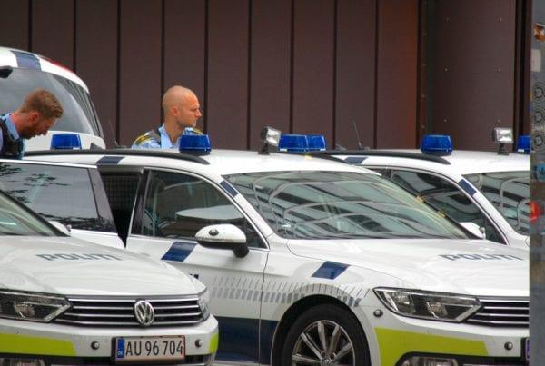 Kampklædt politi igang med stor aktion - måtte lukke motorvej