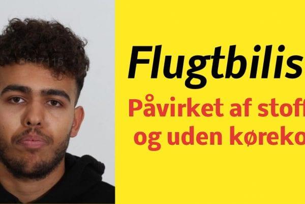 Flugtbilist var på stoffer og uden kørekort