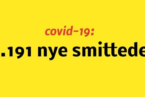 1.191 nye smittede med covid-19