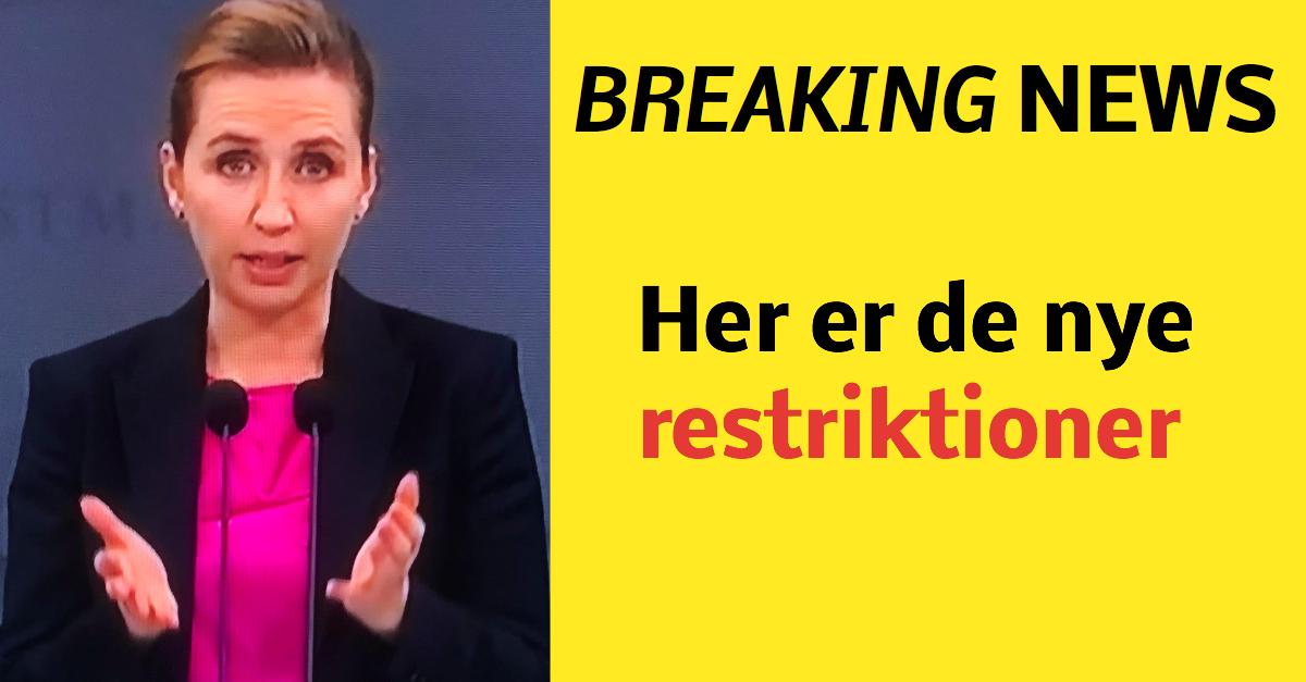 Mette Frederiksen lukker Nordjylland ned: her er de nye restriktioner