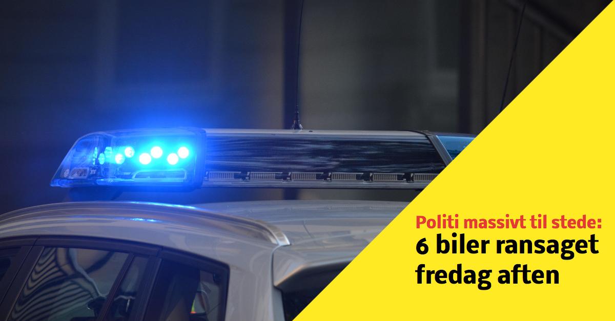 Fredag aften var Fyns Politi massivt til stede på Østergade i Odense på Fyn, da flere biler skulle ransages