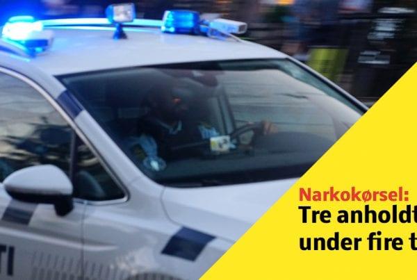 Tre anholdt på under fire timer - sigtet for narkokørsel