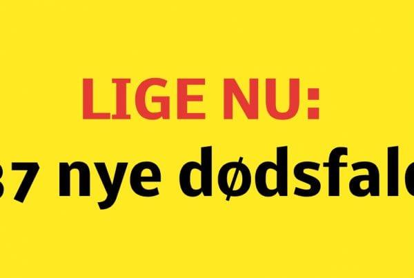 Der er det seneste døgn registreret 760 nye smittede med covid-19 i Danmark