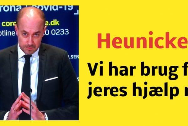 Heunicke: ''Vi har brug for jeres hjælp nu''
