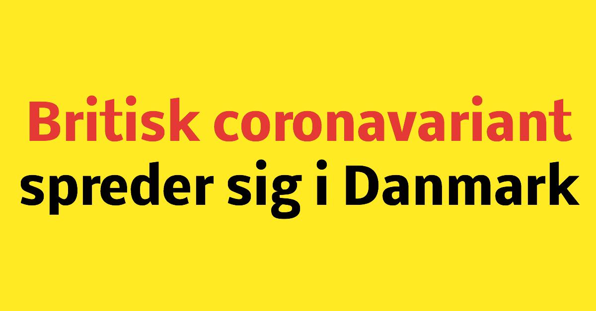 Britisk mutation spreder sig i Danmark
