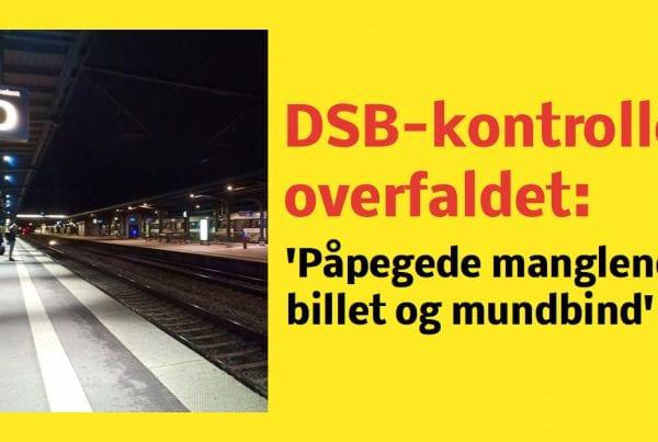 Togkontrollør overfaldet af passager: Påpegede manglende billet og mundbind