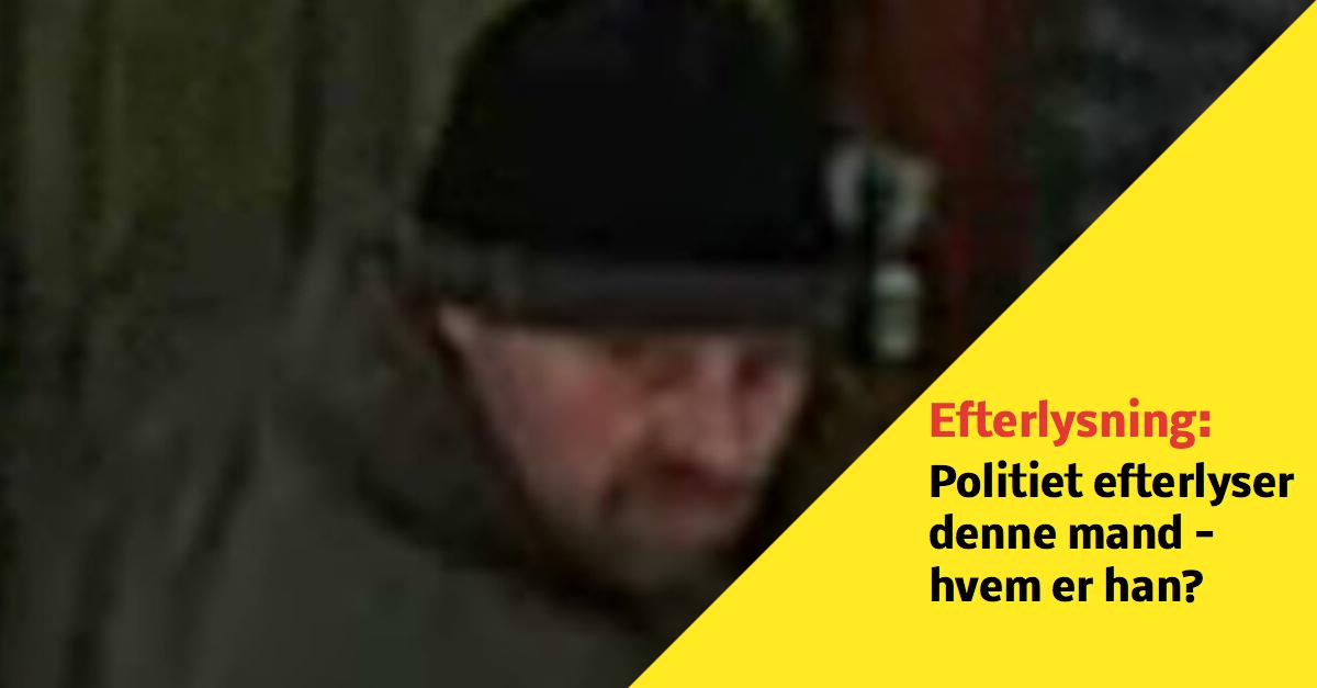 Politiet efterlyser denne mand efter tyveri - hvem er han?