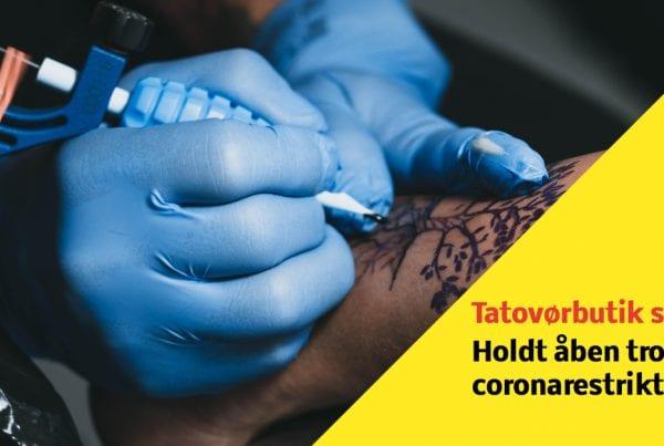Tatovørbutik sigtet for overtrædelse af coronarestriktionerne