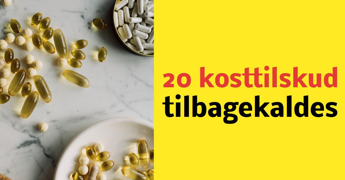 Fødevarestyrelsen: 20 kosttilskud tilbagekaldes
