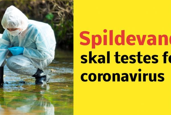 Spillevand skal testet for covid-19