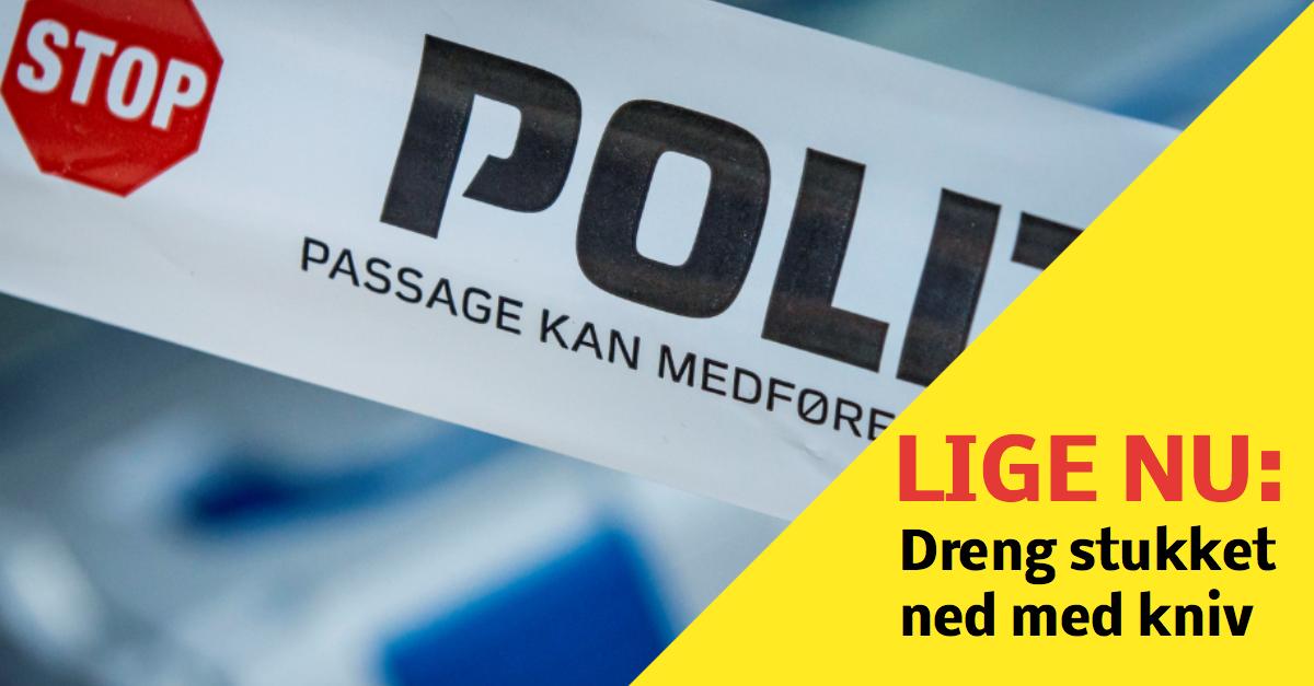 Mandag eftermiddag er en dreng der endnu ikke er fyldt 18 år blevet stukket ned på Skovbovænget i Odense M