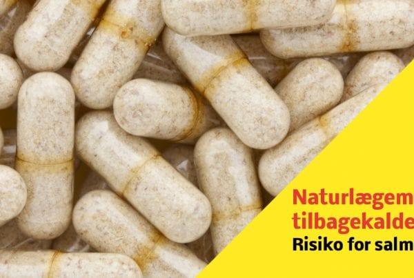 Tilbagekaldelse: Risiko for salmonella i kosttilskud