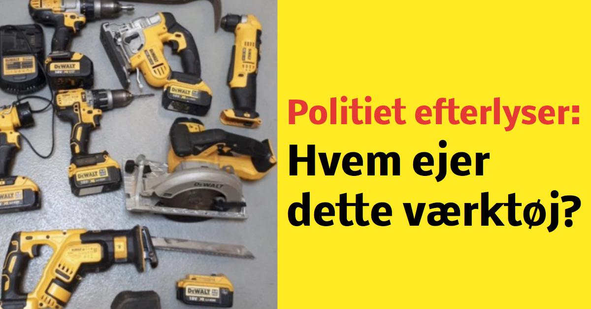 Politiet efterlyser ejer til stjålet værktøj