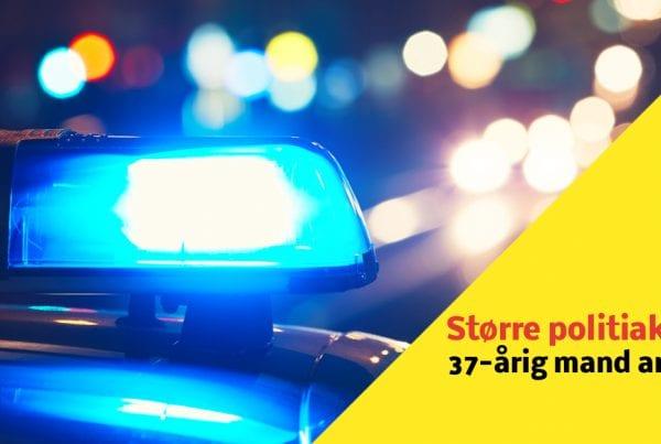 Større politiaktion: 37-årig mand anholdt i sagen